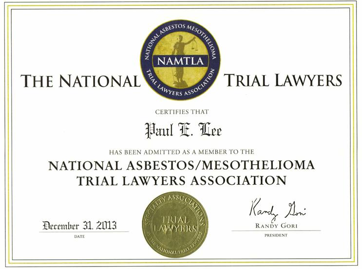 paul asbestos award