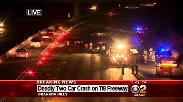 One Dead In 2-Vehicle Crash On 118 Freeway