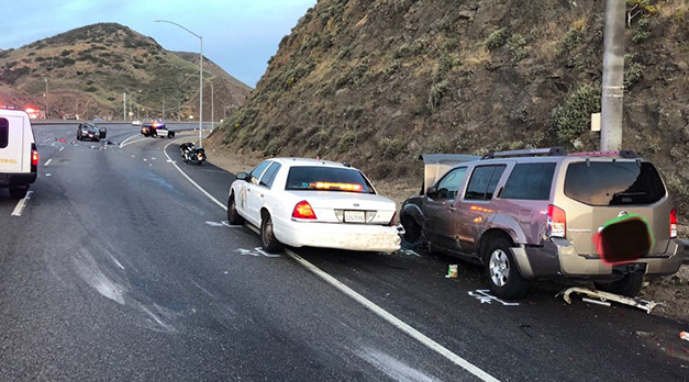 Teen Goes on Rampage Hit-and-Run Injuring CHP Officer in Camarillo