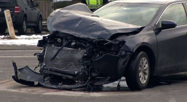 2 Cars Crash on 110 Freeway at Century Boulevard