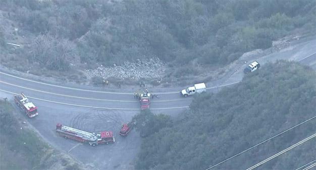 1 Dead after Car Plummets Down Cliff in La Cañada