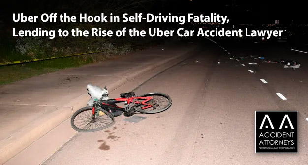 Uber Off the Hook in Self-Driving Fatality, Lending to the Rise of the Uber Car Accident Lawyer